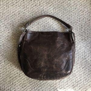 Frye Melissa Hobo Crossbody Slate Distressed Bag